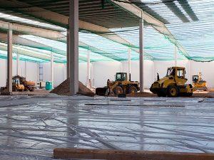 Industriefußbodenplatte für Logistikzentrum