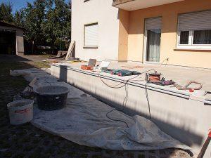 Terrassensanierung mit Fliesenbelag
