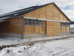 Hallenbau mit Betonarbeiten Wittmann
